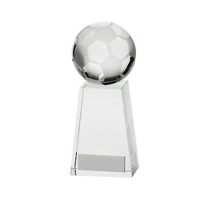 Crystal Voyager Football Ball Trophies Awards 4 sizes FREE Engraving