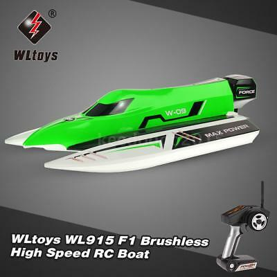 100% Cool WLtoys WL915 2.4Ghz 2CH Brushless High Speed RC F1 Racing Boot DE