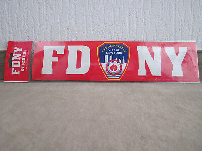 FDNY 30 cm Fire Department City of New York Aufkleber Sticker Bumper RAR!