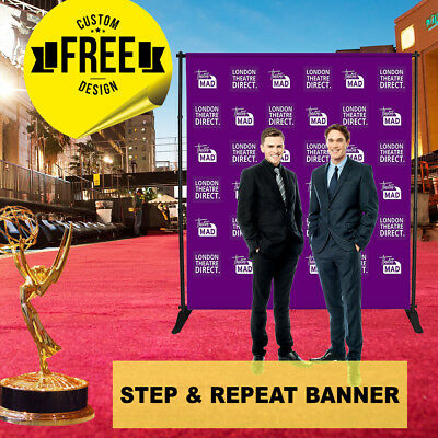 Custom Step and Repeat Banner 6' x 5' ft 2 GUEST Photo-booth Telescopic UV PRINT