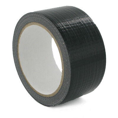 1 x Duck Black  strong Duct Gaffa Gaffer Waterproof Cloth Tape 48mm 2'' 50m