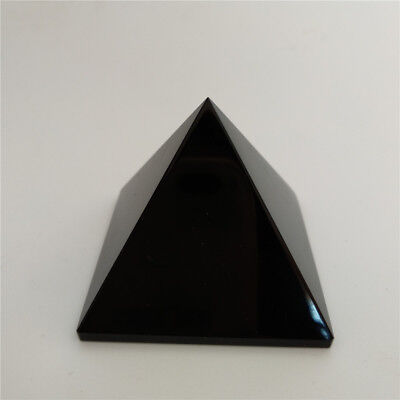 Natural Black Obsidian Crystal Pyramid 40mm