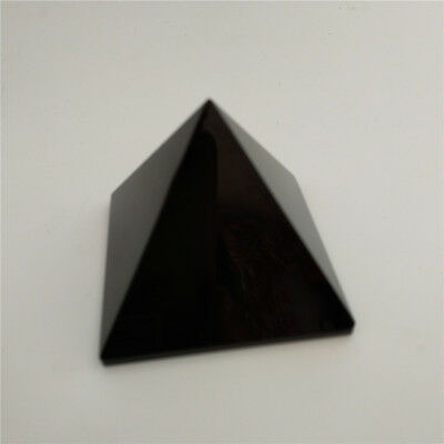 Natural Black Obsidian Crystal Pyramid 50mm