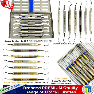 Dental Curette de GRACEY-Parodontale Universal Curettes+Cassette Assorted Sets