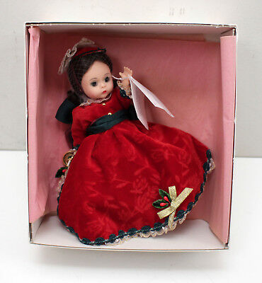 "Madame Alexander ""Victorian Christmas"" 8"" Doll in Red Dress - 19970 in Box"