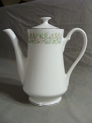 Taihei Fine China Coffee Tea Serving Pot In The Springtime Pattern, Japan