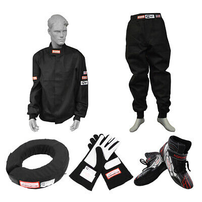 Race Suit Combo 2 Piece Fire Suit, Shoes, Gloves, 360 Helmet Support Sfi 3-2A/1