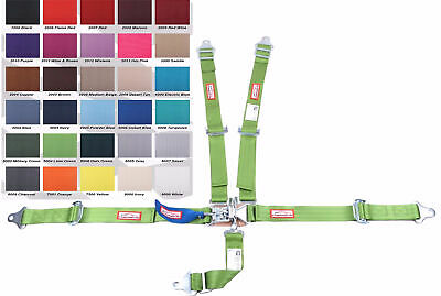 Junior Dragster Racing Harness Sfi 16.1 5 Point Pull Up Lap Belt Lime Green