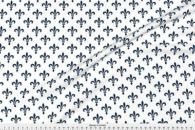 Gothic 14th Century Fleur De Lys ~ Lonely Fabric Printed by Spoonflower BTY