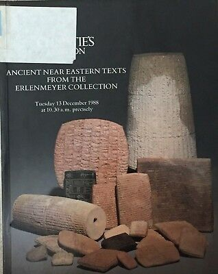 Christie's catalogue of Ancient Near Eastern Texts, 13 December, 1988