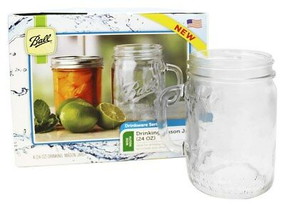 Ball - Wide Mouth 24 oz. Drinking Mason Jars - 4 Pack