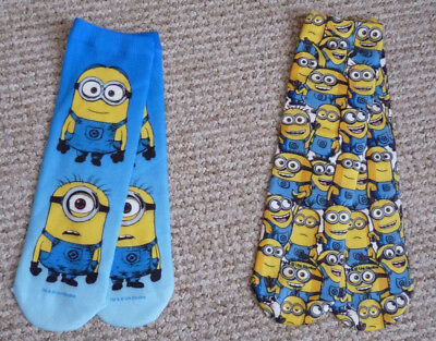 job lot of 10 pairs of Childrens Minions Despicable Me socks size 11-2
