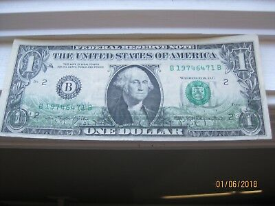 EXTREMELY RARE ONE DOLLAR BILL Back on Front MISPRINT ERROR NOTE 1977