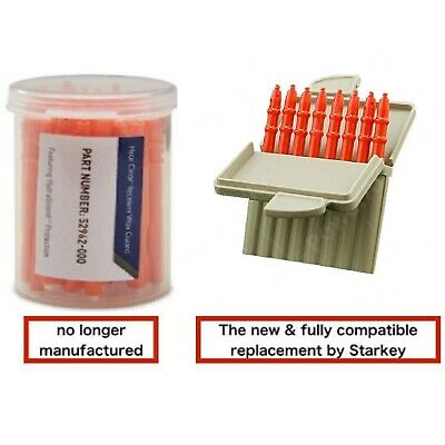 48count Starkey Hear Clear Hearing Aid Wax Guard Vile Replacement Filters