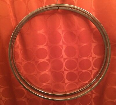"36H NOS Vintage ARAYA JAPAN 26"" x 1 3/8"" CHROME 3-Spd Steel Rims ENDRICK PATTERN"