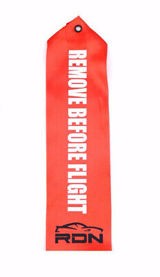 Drag Racing Bracket Car Remove Before Flight Parachute Tag Label