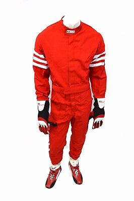 Rjs Racing Sfi 3-2A/1 New Classic 1 Pc Suit Adult 4X Fire Suit Red 200040409