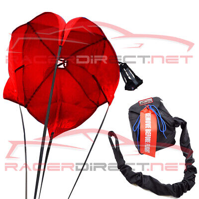 Drag Racing Parachute Red Drag Chute Racing Dragster Chute