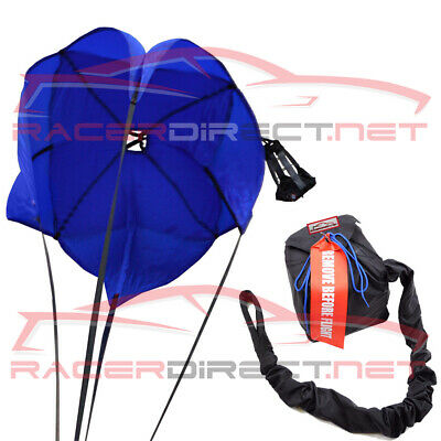 Racerdirect.net Drag Parachute Spring Loaded Blue Drag Racing Chute