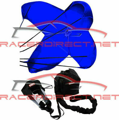 Jr Dragster Parachute Spring Loaded Blue Drag Safety Chute
