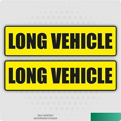 2 X Long Vehicle Stickers Car Van Lorry Taxi Hgv