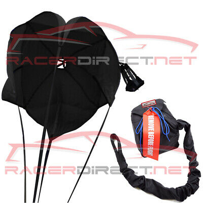 Parachute Youth Dragster Spring Loaded All Black Panels Drag Safety Chute