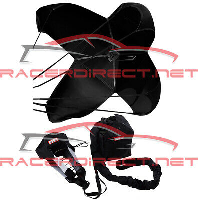 Drag Racing Parachute Spring Loaded Drag Safety Chute Black Racerdirect.net