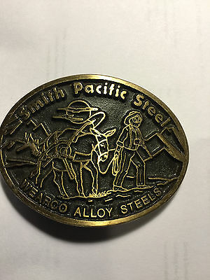 *NOS* VINTAGE 1970s **SMITH PACIFIC STEEL WEARCO** SOLID BRASS BUCKLE