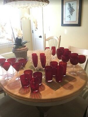 Beautiful Red Glassware
