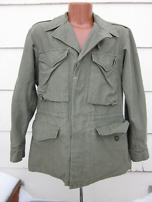 VTG 40s 50s M-1943 Field Jacket 34 Air Forces Army US Military WW2 Post USA