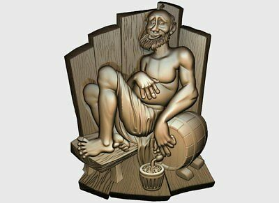 CNC 3d Relief Model STL for Router 3 axis Engraver #the man in the bath