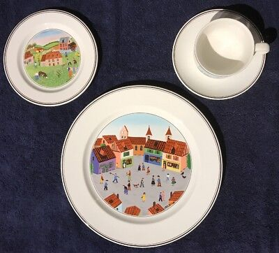 Villeroy & Boch DESIGN NAIF 4 Piece Place Setting Gift Quality