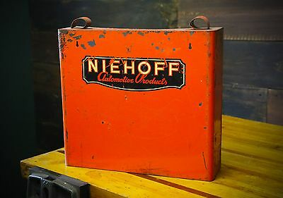 Niehoff Automotive Parts Small Advertising Vintage Cabinet Shelving Storage