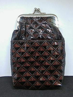 Fujima Glossy Brown Diamond Design PVC 100s Cigarette Pack Case
