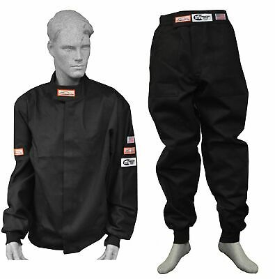 Drag Racing Fire Suit Sfi 1 Jacket & Pants Sfi 3-2A/1 Black Sm Md Lg Xl 2X 3X 4X