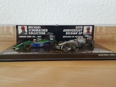 Michael Schumacher 20 Jahre Edition 2er Car Set 1:43