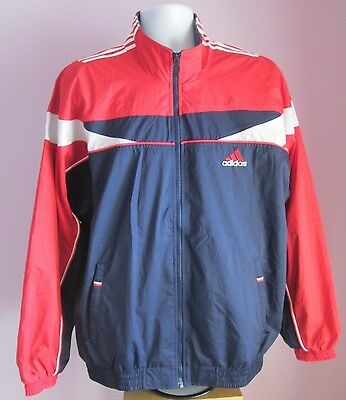 VTG Mens ADIDAS Navy/Red/White Training Sport Top Size Extra Large (M42)