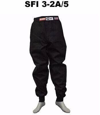 Fire Suit Sfi 5 Racing Pants 3-2A/5 Rated Black Size Adult 4X Imsa Scca Nasa