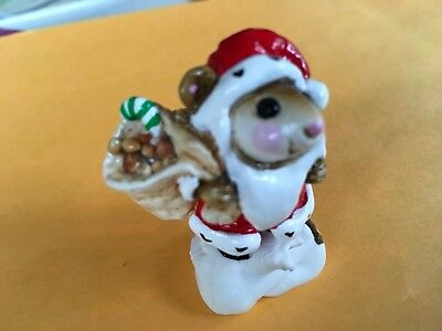 Wee Forest Folk Santa Mouse AP 1979 Bag of Seeds Winter Snow Christmas Retire