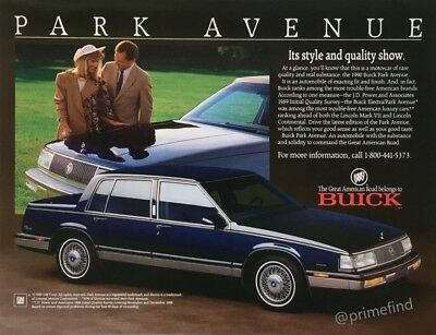 1989 BUICK Electra Park Avenue 1990 Style & Quality Vintage PRINT AD