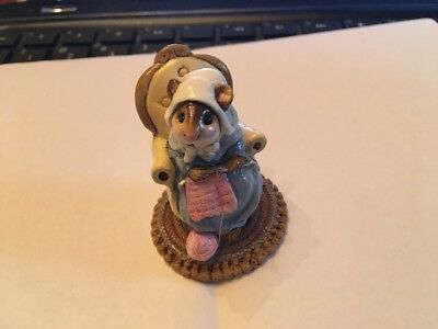 WEE FOREST FOLK MICE, PEARL KNIT, M-59, 1981 WFF mint condition