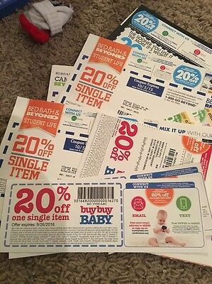 18 BED BATH AND BEYOND/BUY BUY BABY COUPONS 20% Off expired