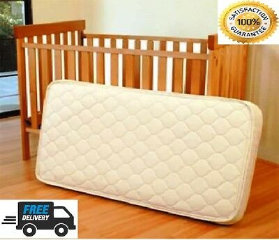 BABY COT BED TODDLER QUILTED MATTRESS WATERPROOF BREATHABLE 140 x 70 x 13 CM