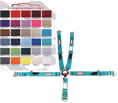 Youth Racing Harness Sfi 16.1 5 Point Seat Belt Cam Lock Turquoise Racerdirect
