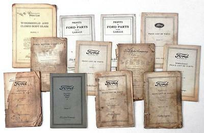 """FORD Model """"T"""" 1920-1933 lot of 30 MANUALS & PARTS BOOKS price lists"""