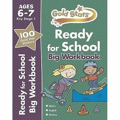 Ready For School Big Workbook - Ages 6-7 - Gold Stars KS1, Children's Books, New