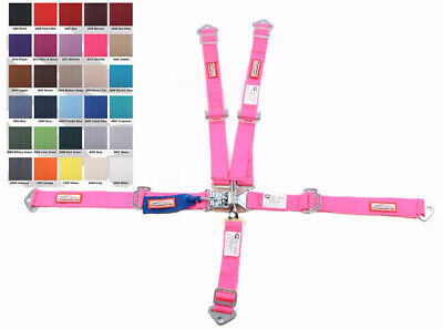 Quarter Midget Racing Harness Sfi 16.1 5 Point Latch & Link Seat Belt Hot Pink