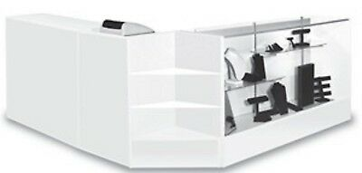 Combo Cashier POS Showcase,Counter, Register Stand White