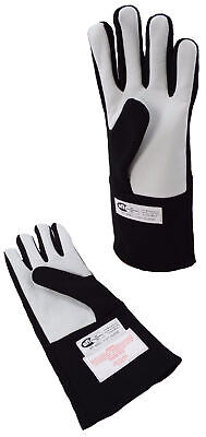 Sprint Car Racing Gloves Sfi 3.3/1  Single Layer Driving Gloves Black Large .