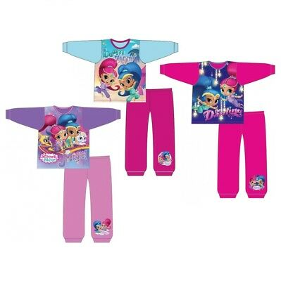 Girls Kids Official Shimmer and Shine Pyjamas PJs Set Size Age 18 Months-3 Years